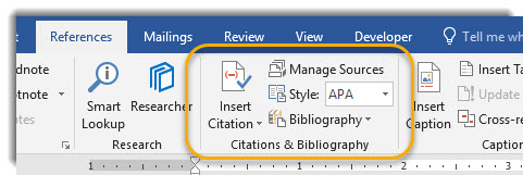 Citations & BIbliography in the Ribbon