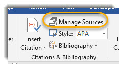 Manage Sources Button