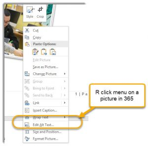 Edit Alt Text in right click menu in Office 365