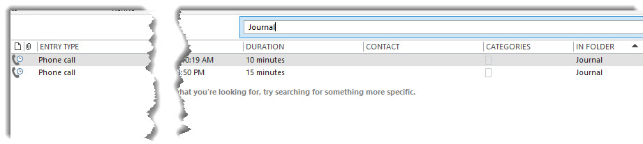 Journal Search Bar