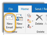 New email button