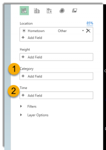 Category and date fields