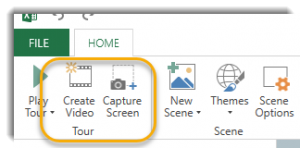 Create Video and Capture Screen buttons
