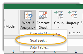 Excel: Forecasting with Goal Seek