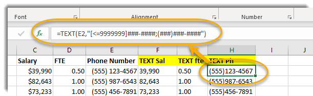 Excel, H2 selected, formula bar circled