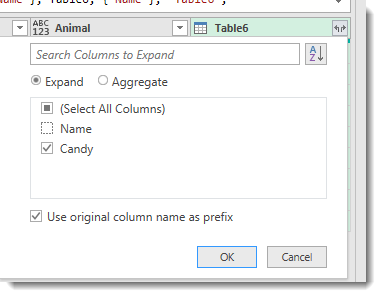 only candy selected