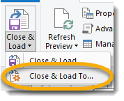 close and load to