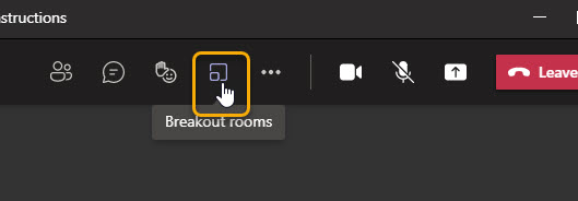 Breakout rooms icon in the menu