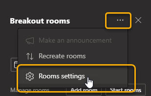 "Ellipses options, ""rooms settings"""