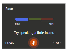 "Prompt"" Try speaking a little faster"