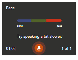 "Prompt: ""try speaking a bit slower."""